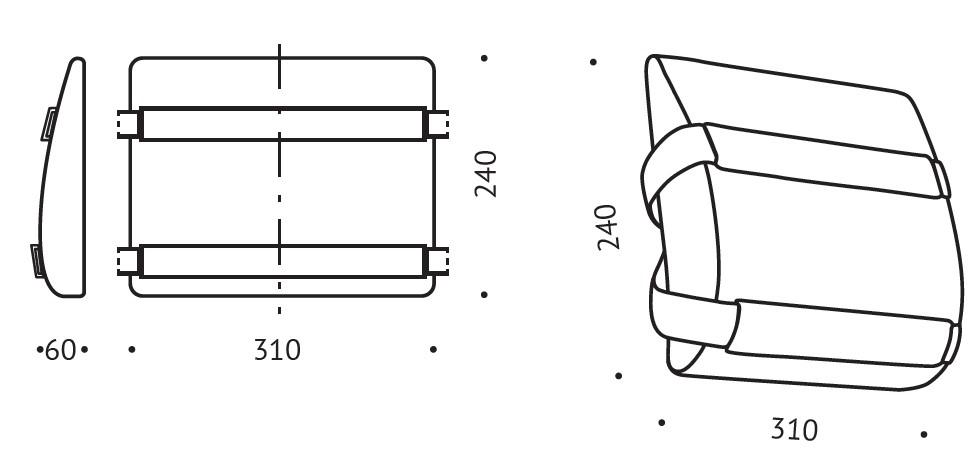 Korektor poduszka pod plecy Valde R21 wymiary